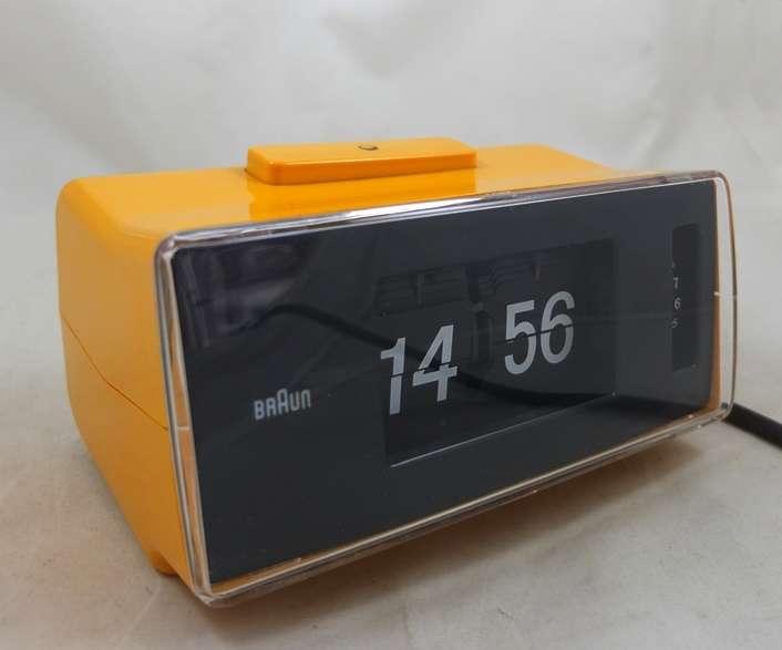 braun klappzahlenuhr wecker flip clock design vintage ebay. Black Bedroom Furniture Sets. Home Design Ideas